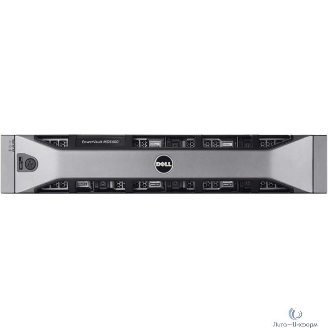 Dell PowerVault MD3400 x12 4x300Gb 15K 3.5 SAS 2x600W PNBD 3Y 2xController, 12G SAS, 2U MD34xx, 4GB Cache (210-ACCG-31)