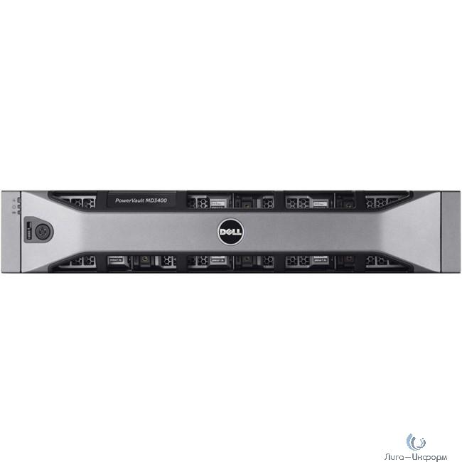 Dell PowerVault MD3400 x12 4x4Tb 7.2K 3.5 NL SAS 2x600W PNBD 3Y 2x2Ctrl 4Gb Cache (210-ACCG-20)