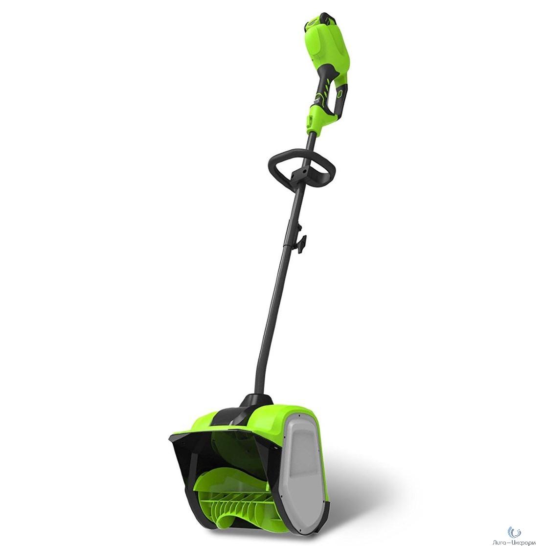 Greenworks Снегоуборщик аккумуляторный GD40SSK4, {40V, 30 см, бесщеточный, с 1хАКБ 4 А.ч и ЗУ} [2600807UB]
