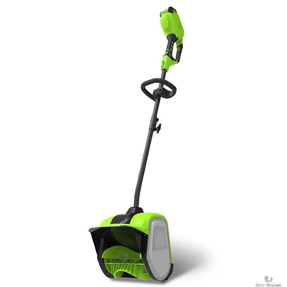 Greenworks Снегоуборщик аккумуляторный GD40SSK6, {40V, 30 см, бесщеточный, с 1хАКБ 6 А.ч и ЗУ} [2600807UF]