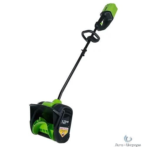 Greenworks Снегоуборщик аккумуляторный G80SS30K2, {30 см, бесщеточный, с 1хАКБ 2 А.ч и ЗУ} [2600707UA]