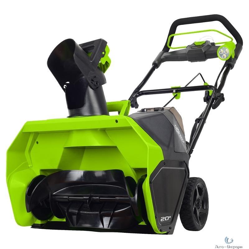 Greenworks Снегоуборщик аккумуляторный GD40ST, {40V, 51 см, бесщеточный, без АКБ и ЗУ} [2600007]