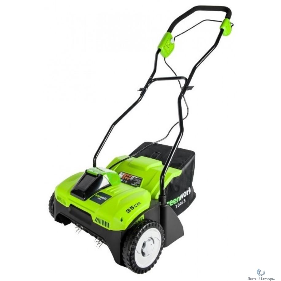 Greenworks Аэратор аккумуляторный G40DT30K4, {40V, с 1хАКБ 4 А.ч. и ЗУ} [2504807UB]