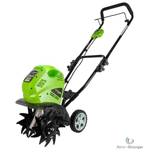 Greenworks Культиватор аккумуляторный G40TL, {40V, с 1хАКБ 4 А.ч и ЗУ} [27087VB]