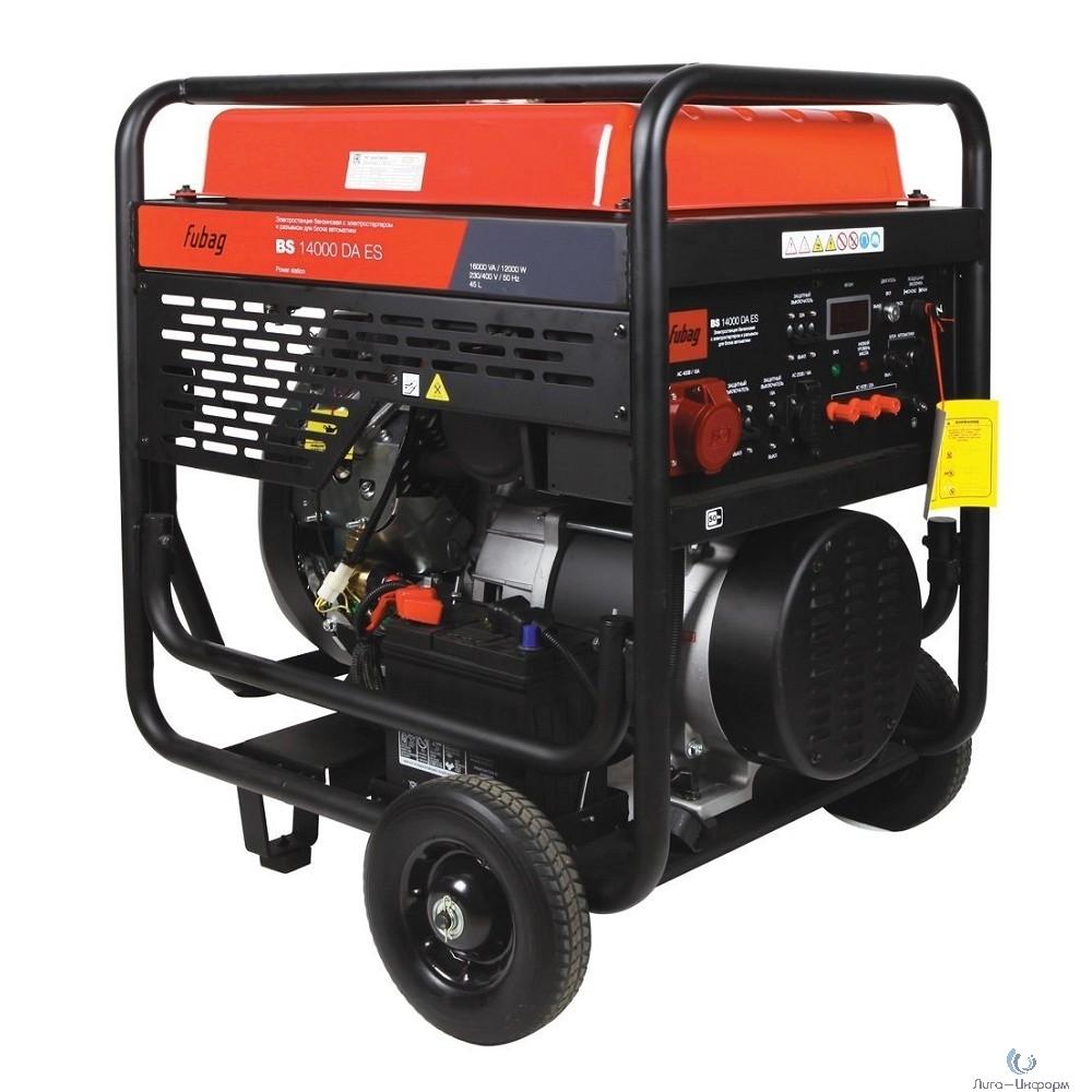 FUBAGBS BS 14000 DA ES [431241] Электростанция бензиновая с электростартером и коннектором автоматики {трехфазный бензиновый генератор c электростартером}