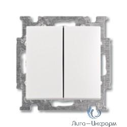 ABB 1012-0-2148 Выключатель с клавишей, 2-клавишный выключатель, слоновая кость