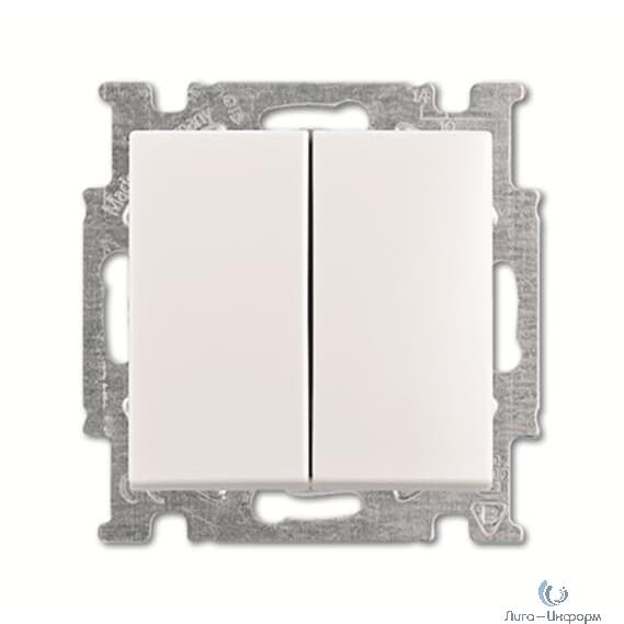 ABB 1012-0-2151 Выключатель с клавишей, 2-клавишный переключатель, слоновая кост ь