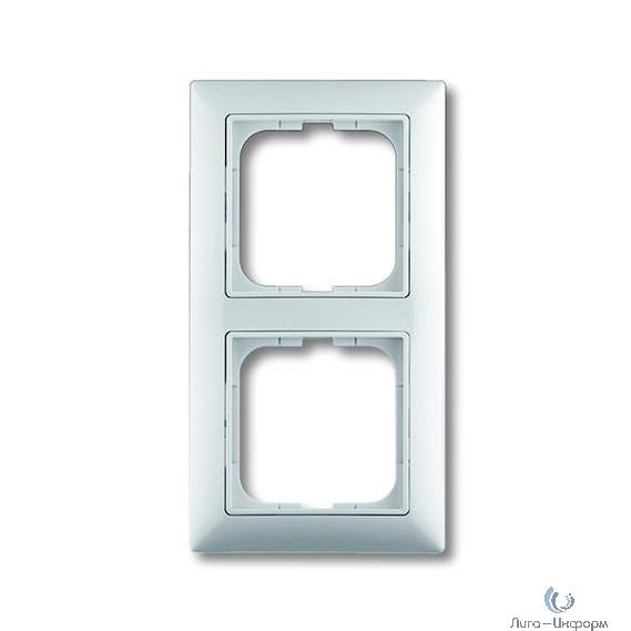 ABB 1725-0-1480 Рамка с декоративной накладкой, 2 поста, альпийский белый