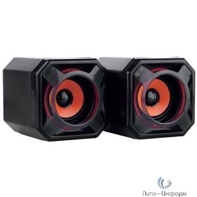 CBR CMS 498 Orange, Акустическая система 2.0, питание USB, 2х5 Вт (10 Вт RMS), материал корпуса пластик, 3.5 мм линейный стереовход, регул. громк., длина кабеля 1,2 м, цвет чёрный-оранжевый
