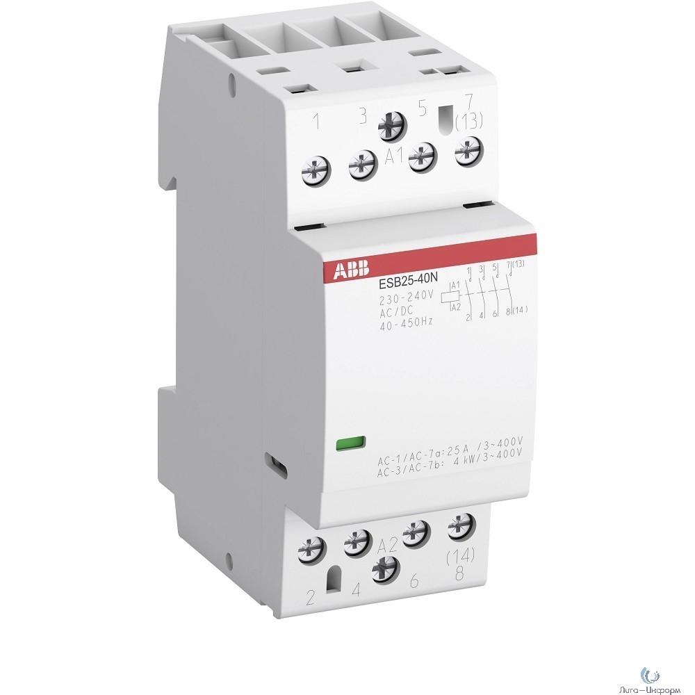 ABB 1SAE231111R0740 Контактор ESB25-40N-07 модульный (25А АС-1, 4НО), катушка 400В AC/DC