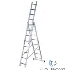 FIT РОС Лестница трехсекционная алюминиевая, 3 х 10 ступеней, H=285/481/674 см, вес 12,19 кг