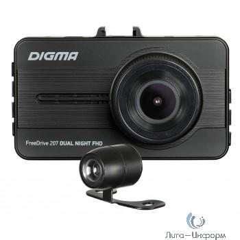 Видеорегистратор Digma FreeDrive 207 DUAL Night FHD черный 2Mpix 1080x1920 1080p 150гр. GP6248 [1171718]