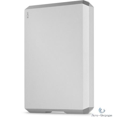 "LaCie Внешний жесткий диск LaCie STHG5000400 5TB LaCie Mobile Drive 2.5"" USB 3.1 TYPE C Moon Silver"