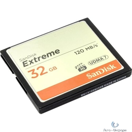 Флеш карта CF 32GB SanDisk Extreme 120MB/s