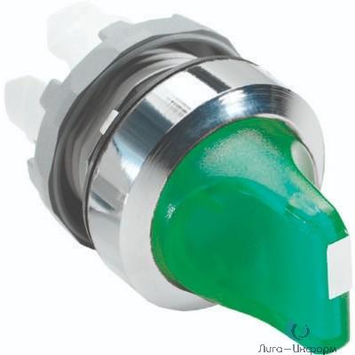 ABB 1SFA611201R2102 Переключатель M2SS2-21G (короткая ручка) зеленый 2-х позиционный с подсветкой (только корпус) 90# с фиксацией
