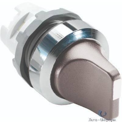 ABB 1SFA611200R2007 Переключатель M2SS1-20U (короткая ручка) серый 2-х позиционный без подсветки (только корпус) 45# с фиксацией