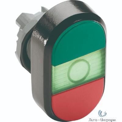 ABB 1SFA611133R1102 Кнопка двойная MPD4-11G (зеленая/красная) зеленая линза с тексто м (START/STOP)