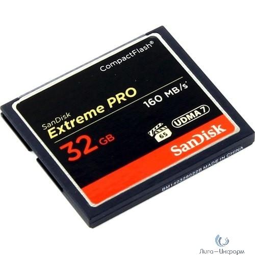Флеш-накопитель Sandisk Карта памяти SanDisk Extreme Pro CF 160MB/s 32 GB VPG 65, UDMA 7