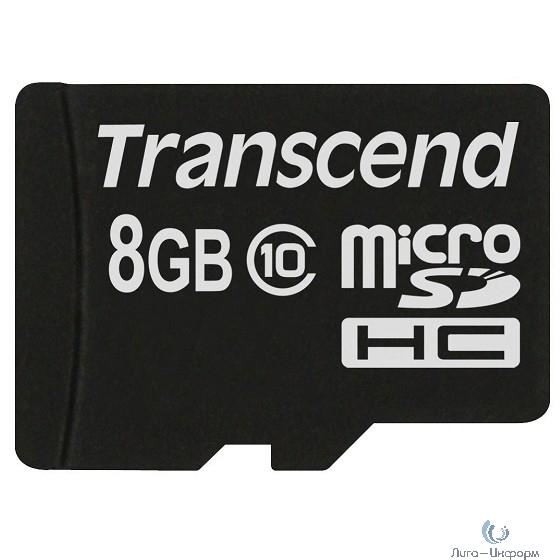 Micro SecureDigital 8Gb Transcend TS8GUSDC10M {MicroSDHC Class 10, MLC Industrial}