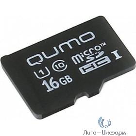 Micro SecureDigital 16Gb QUMO QM16GMICSDHC10U1NA {MicroSDHC Class 10 UHS-I}