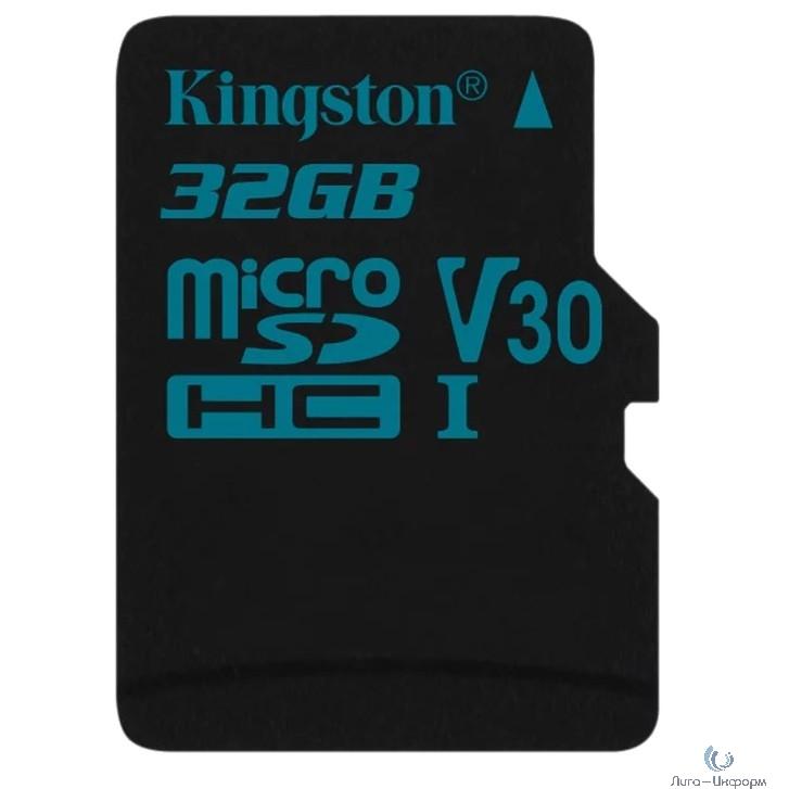 Micro SecureDigital 32Gb Kingston SDCG2/32GB {MicroSDHC Class 10 UHS-I U3, SD adapter}
