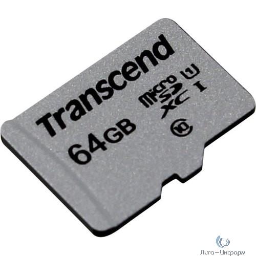 Micro SecureDigital 64Gb Transcend Class 10 TS64GUSD300S {MicroSDXC Class 10 UHS-I U1}
