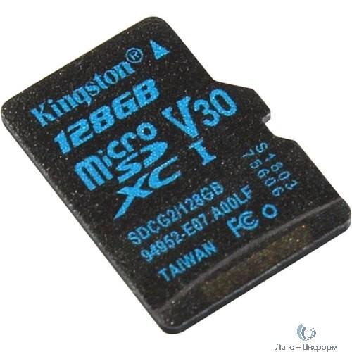 Micro SecureDigital 128Gb Kingston SDCG2/128GBSP {MicroSDXC Class 10 UHS-I U3}