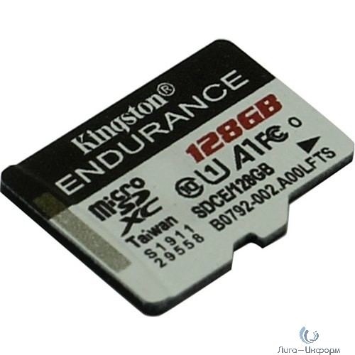 Micro SecureDigital 128Gb Kingston SDCE/128GB {MicroSDHC Endurance Flash Memory Card}