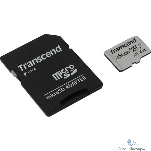Micro SecureDigital 256Gb Transcend Class 10 TS256GUSD300S-A {MicroSDXC Class 10 UHS-I U3, SD adapter}