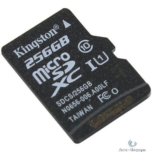 Micro SecureDigital 256Gb Kingston SDCS/256GBSP {MicroSDXC Class 10 UHS-I}