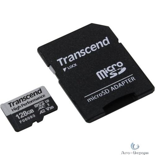 Флеш-накопитель Transcend Карта памяти Transcend 128GB UHS-I U3 A2 microSD microSD w/ adapter