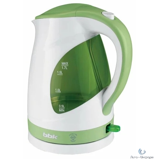BBK EK1700P (W/AG) Чайник электрический белый/светло-зеленый