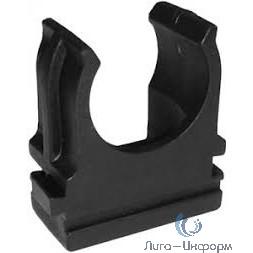 """(28-0125-1) Крепёж-клипса для труб черная д.25 мм """"ПС"""" 100 шт/уп (1000 шт/кор)"""