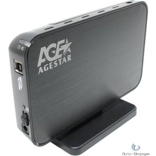 "AgeStar 3UB3A8-6G (Black) Мобил рек, usb3.0 to 3,5""hdd SATA алюминий"