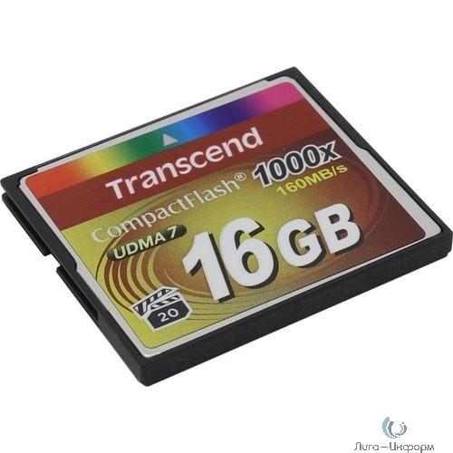 Флеш-накопитель Transcend 16GB CompactFlash 1000X