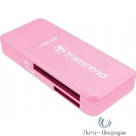 Устройство чтения/записи флеш карт Transcend RDF5, SD/microSD, USB 3.0, Розовый