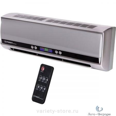 FIRST (FA-5571-8-GR) Тепловентилятор настенный, 1000 Вт/2000 Вт, керамич., холод.воздух, LCD-диспл., ДУ,