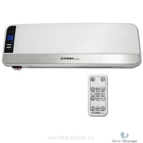 FIRST (FA-5571-1 White) Тепловентилятор настенный , керамич., 1000/2000 Вт, режим холод, LCD-диспл, ДУ, таймер