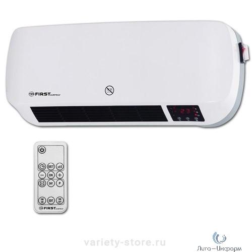 FIRST (FA-5571-3 White) Тепловентилятор настенный , керамич., 1000/2000 Вт, режим холод, LCD-диспл, ДУ, таймер