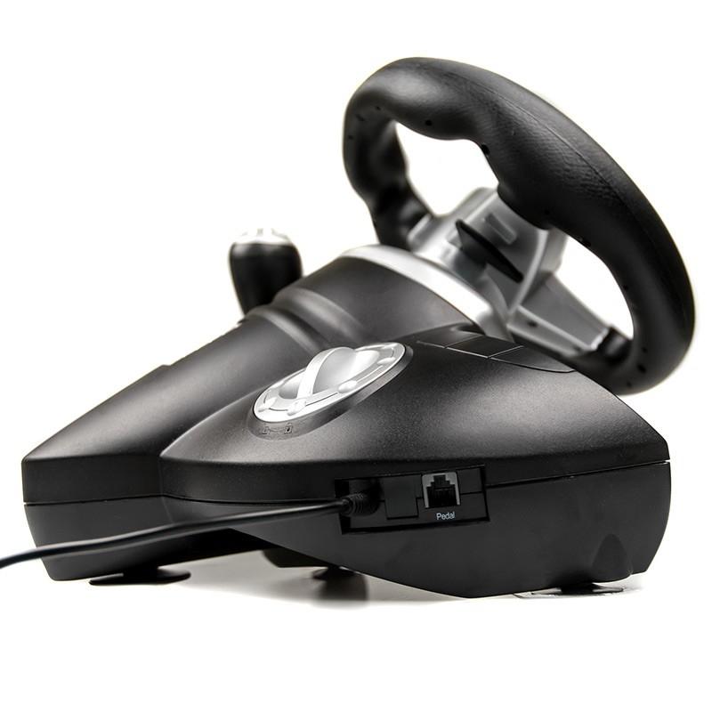 Dialog Игровой руль GW-155VR CyberPilot - эф. вибрации, 2 педали, рычаг ПП, PC USB
