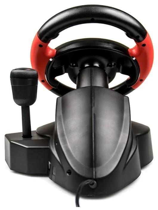 Dialog Игровой руль GW-225VR E-Racer - вибро, 2 педали + рычаг, PC USB/<wbr>PS4&3/<wbr>XB1&360/<wbr>Android/<wbr>Switch