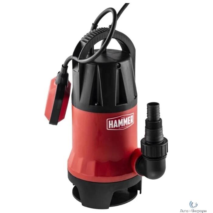 Hammer Насос дренажный  NAP900D  {900Вт 14000л/ч высота 8,5м частицы до 35мм} [641201]