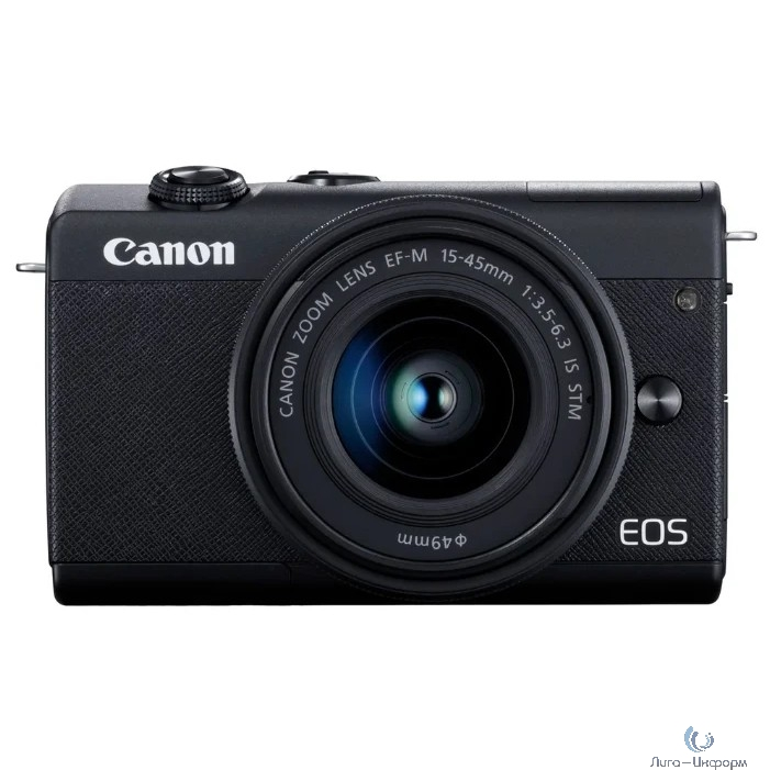 "Canon EOS M200 черный 24.1Mpix 3"" 4K WiFi 15-45 IS STM LP-E12 (с объективом)"