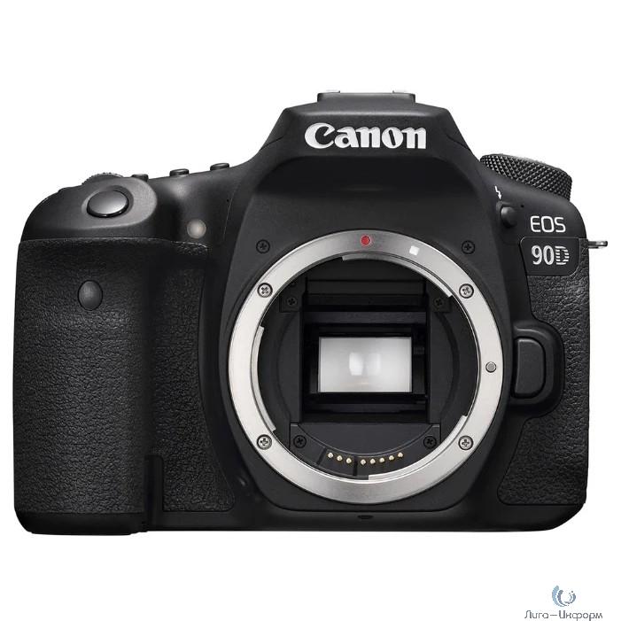 "Canon EOS 90D черный 32.5Mpix 3"" 1080p 4K SDXC Li-ion (без объектива)"