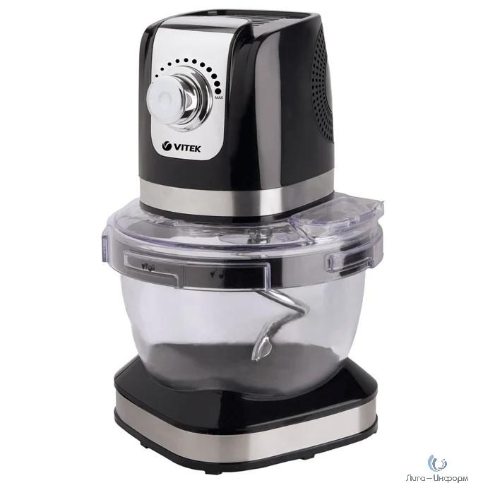 VITEK VT-1434(BK) Кухонная машина  Мощ.1000 Вт. Регулировка мощности.Стеклянная  съемная чаша 4л