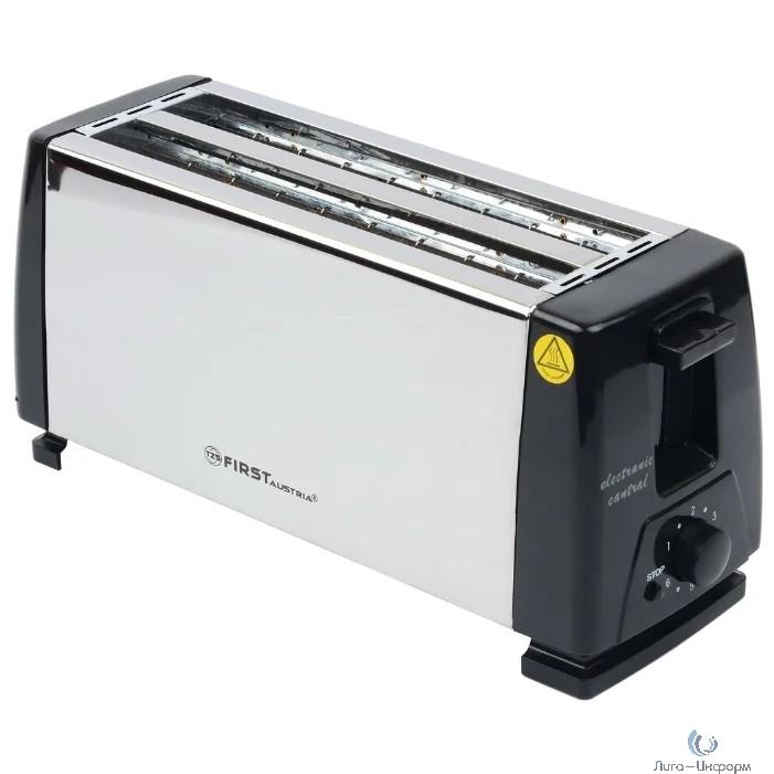 FIRST FA-5367-CH Тостер, 1300 Вт, Количество тостов: 4.Корпус из нержавеющей стали.