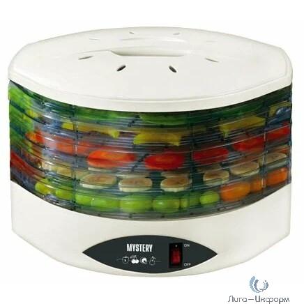 MYSTERY (MDH-322) Сушилка для овощей и фруктов, 250 Вт, 5 съемных секций, индикатор питания, сушка овощей, фруктов, грибов, ягод, мяса, рыбы, хлеба