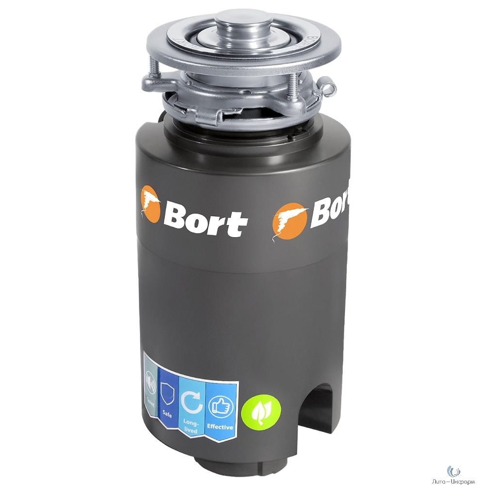 Bort Измельчитель пищевых отходов TITAN 4000 (Control) {Мощность л.с. 0,75 ; 560 Вт; 4,2 кг/мин; 3200 об/мин; 1400 мл; Металл ;набор аксессуаров 5 шт} [93410242]