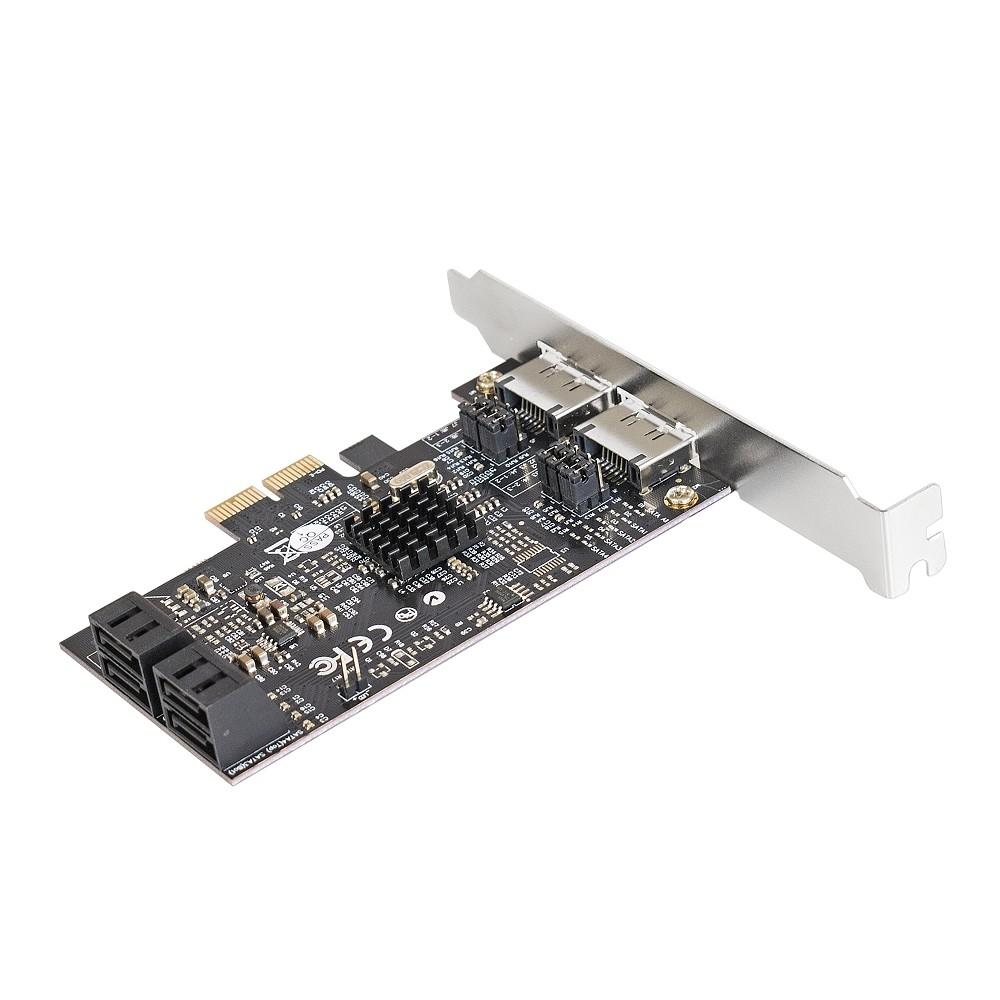Exegate EX283711RUS Контроллер EXE-504 PCI-E 2.0, SATA3 RAID, 4 int+2 ext (OEM)