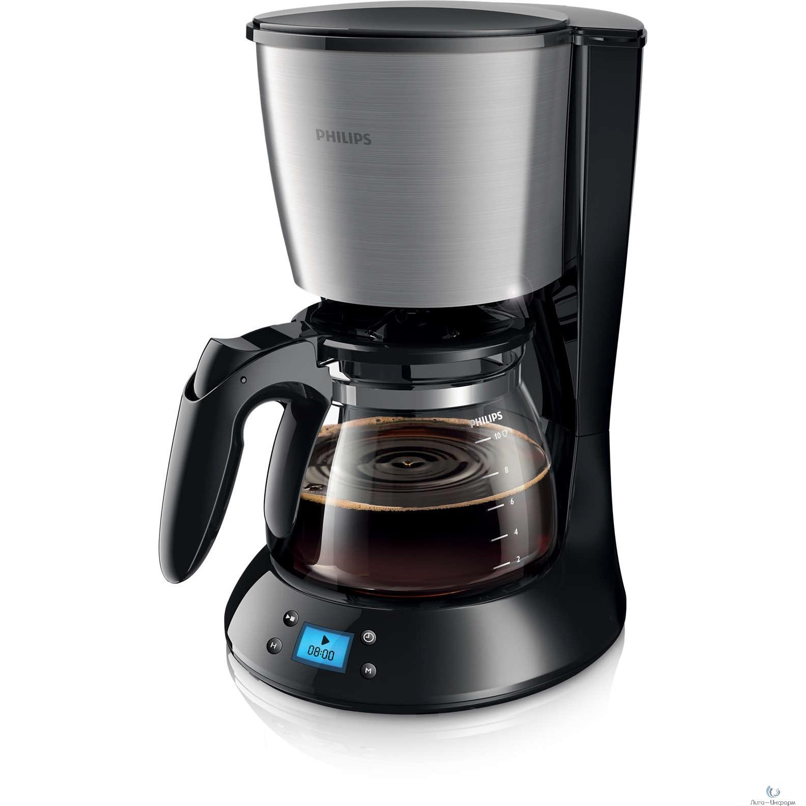 PHILIPS (HD7459/20) Кофеварка капельного типа Капельного типа. 1000 Вт. Цвет: черный, металлический. Материал: пластик, металл